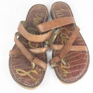 Sam Edelman Brown Krys Strappy Boho Flat Sandals